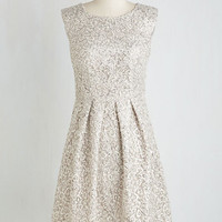 Fun One Like You Lace Dress in Silver | Mod Retro Vintage Dresses | ModCloth.com