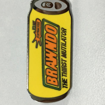 Idiocracy Brawndo Tallboy Hat Pin