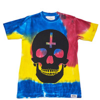 Abandon Ship Apparel — SKULL TSHIRT TIE DYE