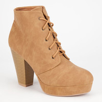 Qupid Twilight Womens Booties Camel  In Sizes