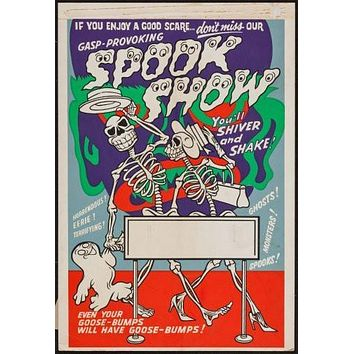 spook show poster Metal Sign Wall Art 8in x 12in