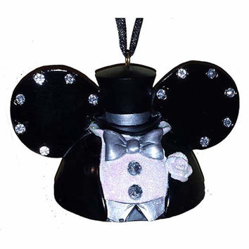 disney parks wedding mickey groom ear hat christmas holiday ornament new with tags