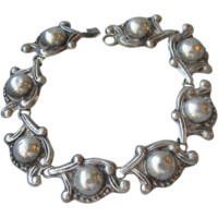 Early Taxco Mexico Sterling Silver Retro 1950's Bracelet