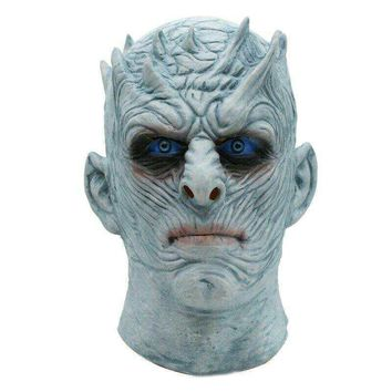 Movie Game of Thrones Night King Mask Halloween Realistic Scary Cosplay Costume Latex Party Mask Adult Zombie Props