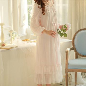 New Arrivals Summer Lace Nightgowns Sexy Ladies Dresses Princess Romantic Sleep Wear Solid Modal Home Dress Soft Nightdress
