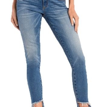 Miss Me Anything But Average Mid-Rise Ankle Skinny Jeans