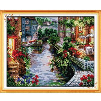 Lakeside Houses - Counted Cross Stitch Kit