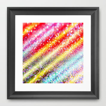 glitter stripes Framed Art Print by Haroulita