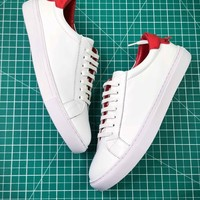 Givenchy Low Top Lace Up White Red Sneakers - Best Online Sale