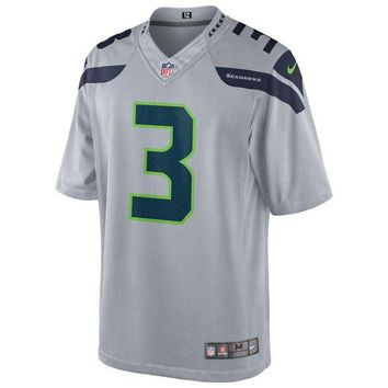 DCCK8X2 Seattle Seahawks Russell Wilson NFL Nike Limited Team Jersey (Silver)