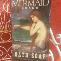 "Mermaid Bath Soap  metal sign 8x14""   Mermaid, ocean, bathroom, colorful  decor"