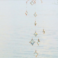 All Stars Hanging Mobile Clear Glass Crystal Copper