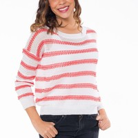 Pearly Pink Striped Sweater
