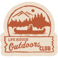 Outdoors Club Sticker|Life is good