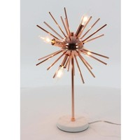 Stylish Chic Metal Marble Accent Lamp