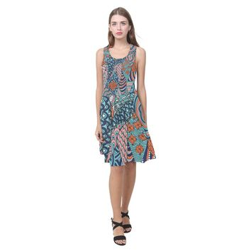 Hippie Psychedelic Art Summer Beach Dress