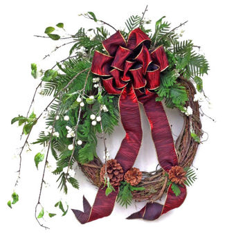Holiday Christmas Wreath for Door, Holiday Wreath,Winter Wreath,Festive Wreath,Seasonal Wreath