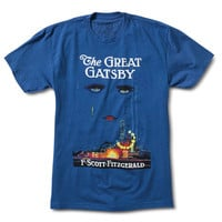 Out of Print The Great Gatsby Men's T Shirt Blue