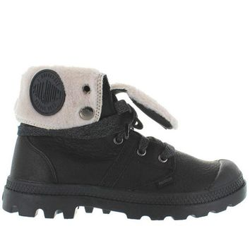 VONES2C Palladium Pallabrouse Baggy - Watertproof Black Leather Fur-Lined Boot