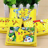12Pcs Pokemon Pikachu Coin Purse Cute Kids Cartoon Wallet Bag Pouch Children Purse Small Wallet Party Gift