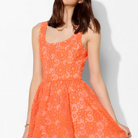 Lucca Couture Embroidered Floral Mesh Dress - Urban Outfitters