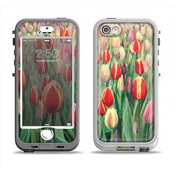 The Painting of Field of Flowers Apple iPhone 5-5s LifeProof Nuud Case Skin Set