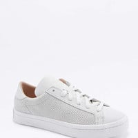 adidas Originals Court Vantage White Perforated Trainers - Urban Outfitters