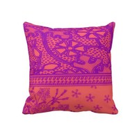 """""""Hippy Love"""" Pillow from Zazzle.com"""