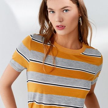 Truly Madly Deeply Striped Crew-Neck Tee | Urban Outfitters