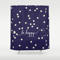 HAPPY DAISY Shower Curtain by Monika Strigel | Society6