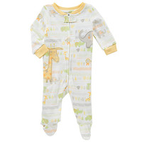 Babies R Us Neutral Printed Footie