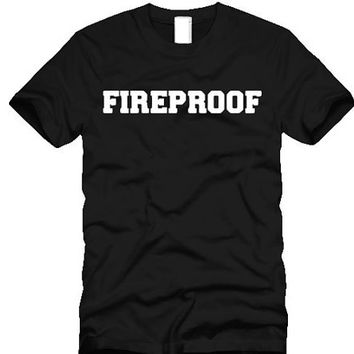 Fireproof  ultra soft  T-shirt add styles 94  - custom made laser cut vinyl - sizes small through XL unisex sweater