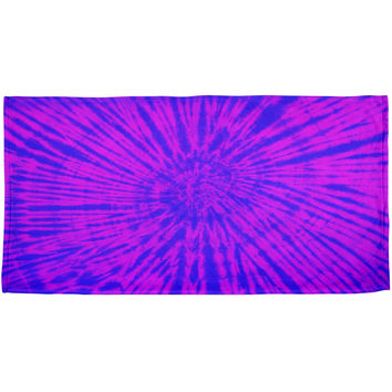 Transgender Tie Dye Blue Purple Pink All Over Beach Towel