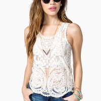 All Over Crochet Tank