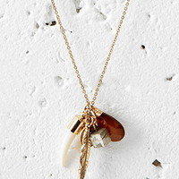 Mixed Feather Charm Necklace