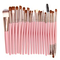 20 Pcs Makeup Brushes Eye Shadow Makeup Brush Set kit pinceaux maquillage for Foundation Powder Lips Eyes pincel de maquiagem