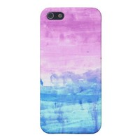 Lavender and Blue iPhone iPhone 5 Case from Zazzle.com