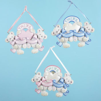12 Christmas Ornaments - Baby Twins Theme