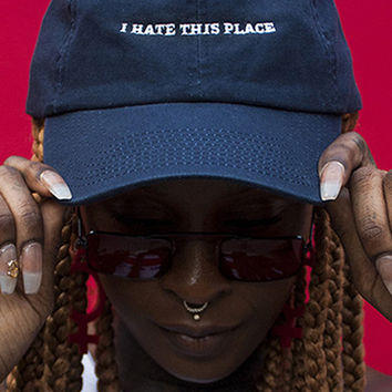 I Hate This Place Embroidered Cap