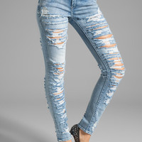 BLANKNYC Distressed Skinny in Pussy Riot from REVOLVEclothing.com
