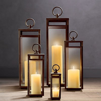 Santorini Square Lanterns Weathered Bronze