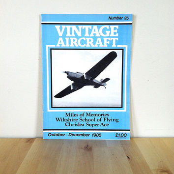 Vintage Aircraft Magazine #35 October - December {1985} Vintage Magazine