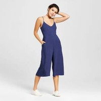Women's Sweetheart Culotte Jumpsuit - Le Kate (Juniors') Navy