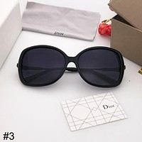 DIOR trend fashion big frame anti-UV retro polarized sunglasses #3