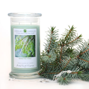 Maine Pine Forest Jewelry Candle