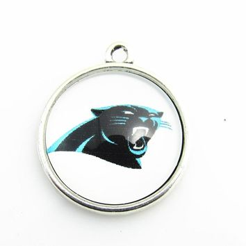 Hot selling Carolina Panthers Team Logo Dangle Pendant Football Fans Jewelry For DIY Sports Necklace Bracelet For 18mm pendant