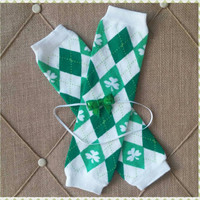 Girls Shamrock St. Patricks Headband and Leg Warmers - St. Patricks Photo Prop - Girls Headband and Leg Warmers