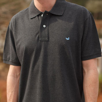 The Heathered Stonewall Polo from Southern Marsh - Collegiate - University of Louisiana at Monroe