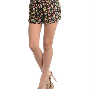 Aby Floral Tie Shorts
