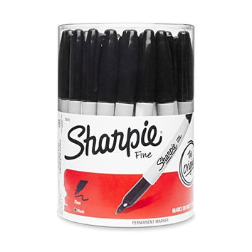 Sharpie Fine Point Permanent Marker, Black (Canister with 36 Pens) by Sharpie